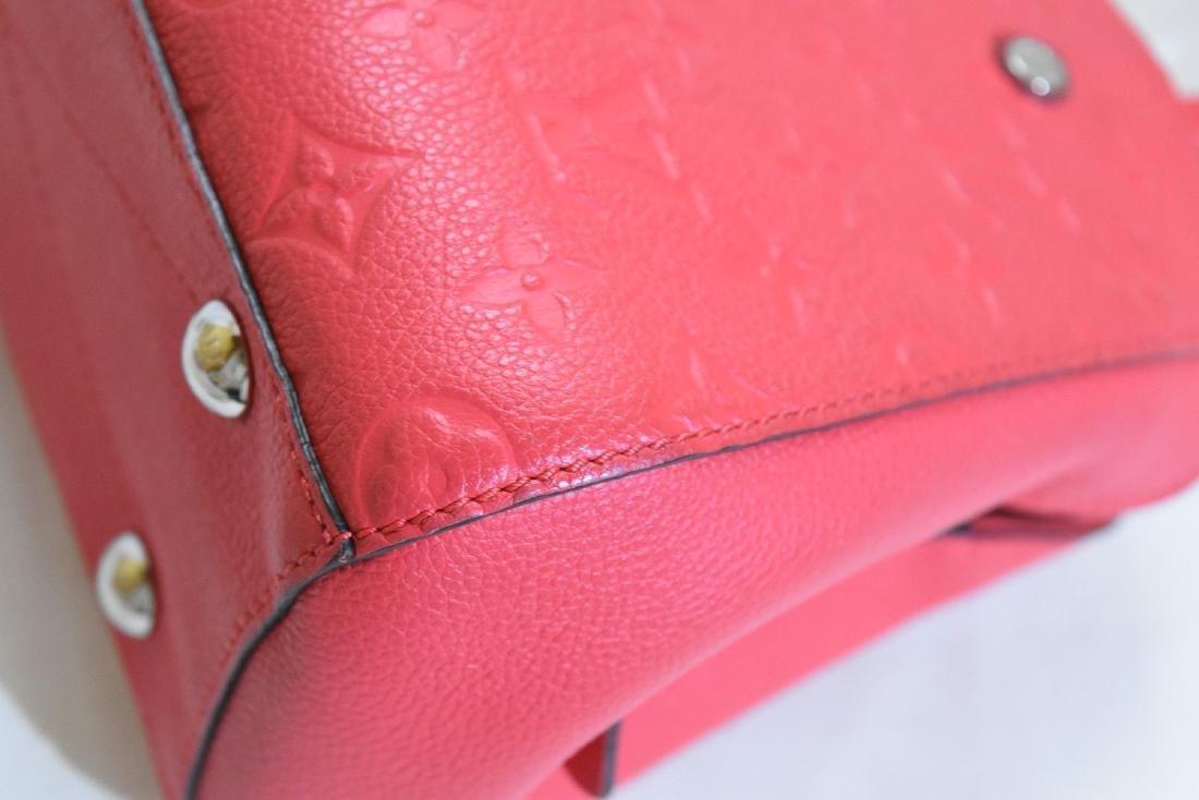 Louis Vuitton Empreinte Red Montaigne BB Satchel with - 10