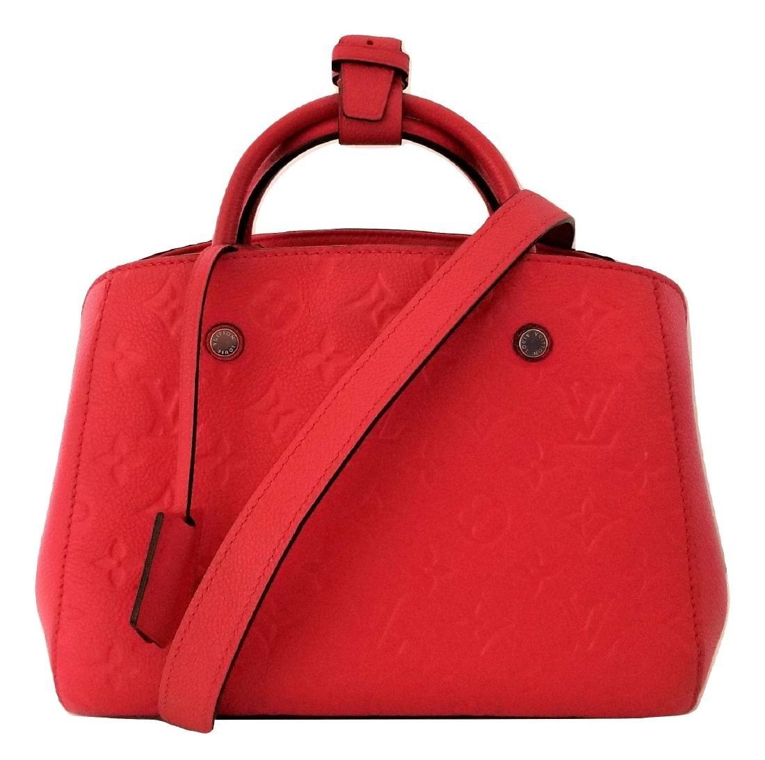 Louis Vuitton Empreinte Red Montaigne BB Satchel with