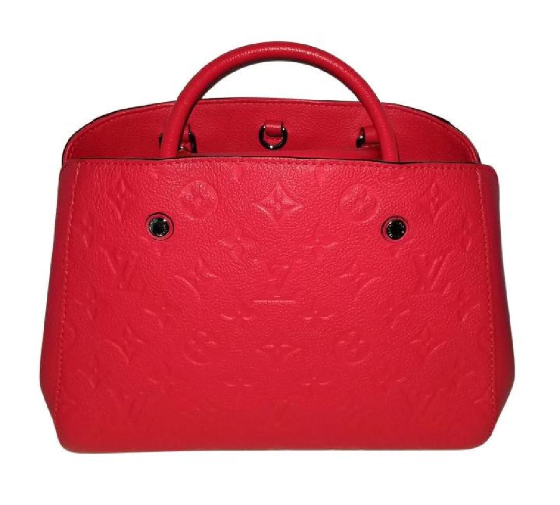 Louis Vuitton Empreinte Red Montaigne BB Satchel with - 2