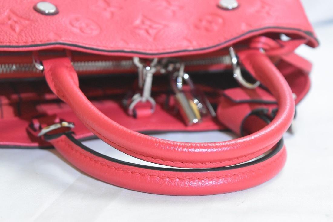 Louis Vuitton Empreinte Red Montaigne BB Satchel with - 3