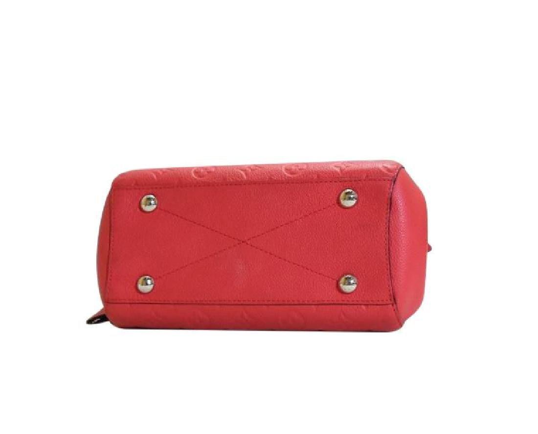 Louis Vuitton Empreinte Red Montaigne BB Satchel with - 4