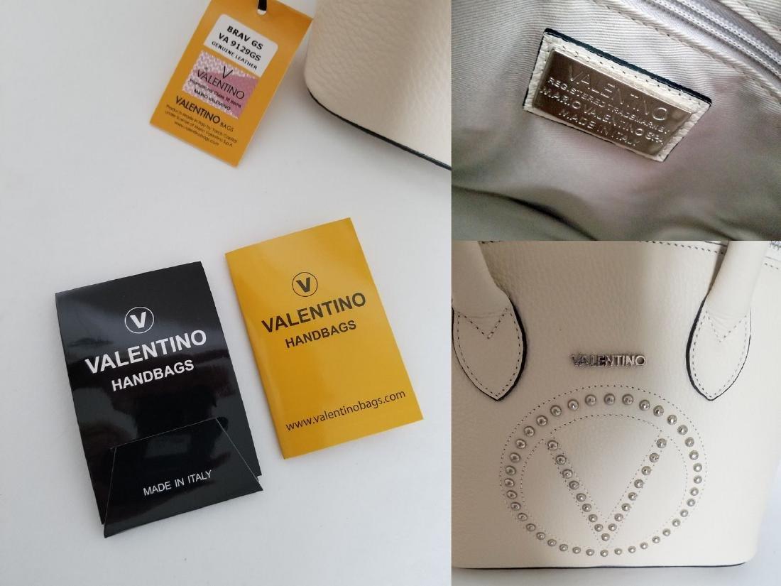 Mario Valentino Italian Grain White Leather Footed - 10