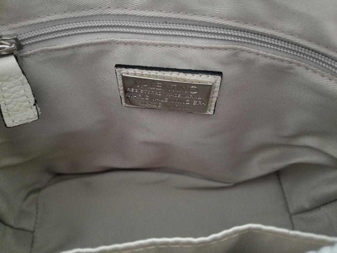 Mario Valentino Italian Grain White Leather Footed - 8