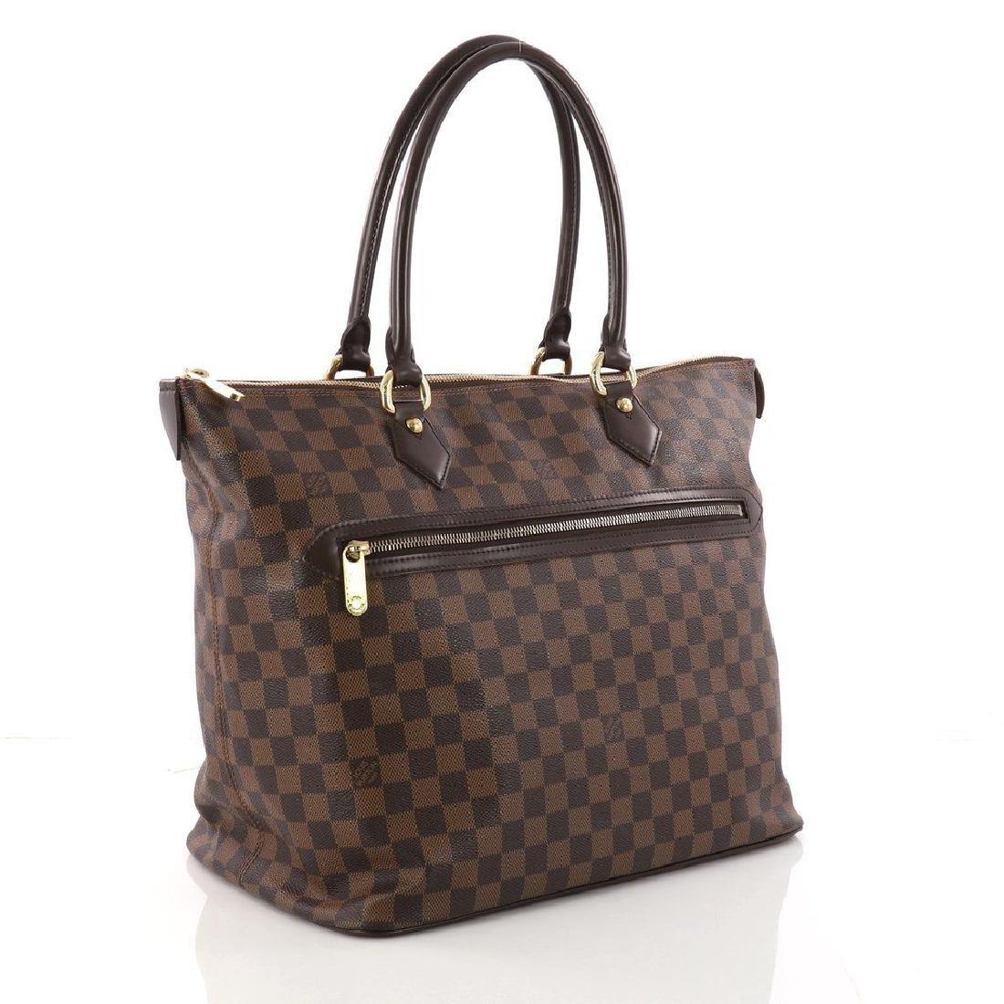 Louis Vuitton Damier Ebene Saleya GM Tote Shoulder Bag