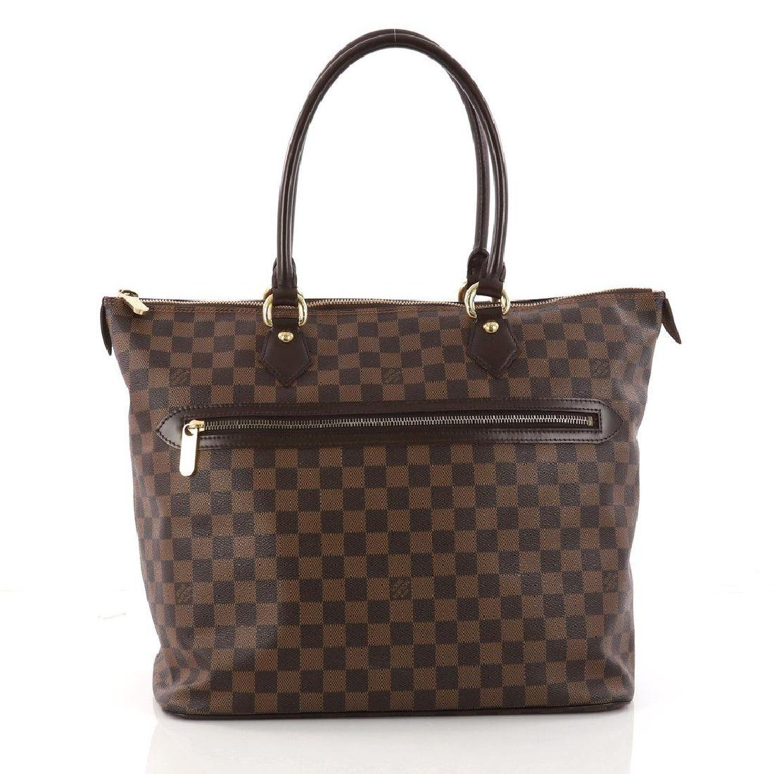 Louis Vuitton Damier Ebene Saleya GM Tote Shoulder Bag - 2