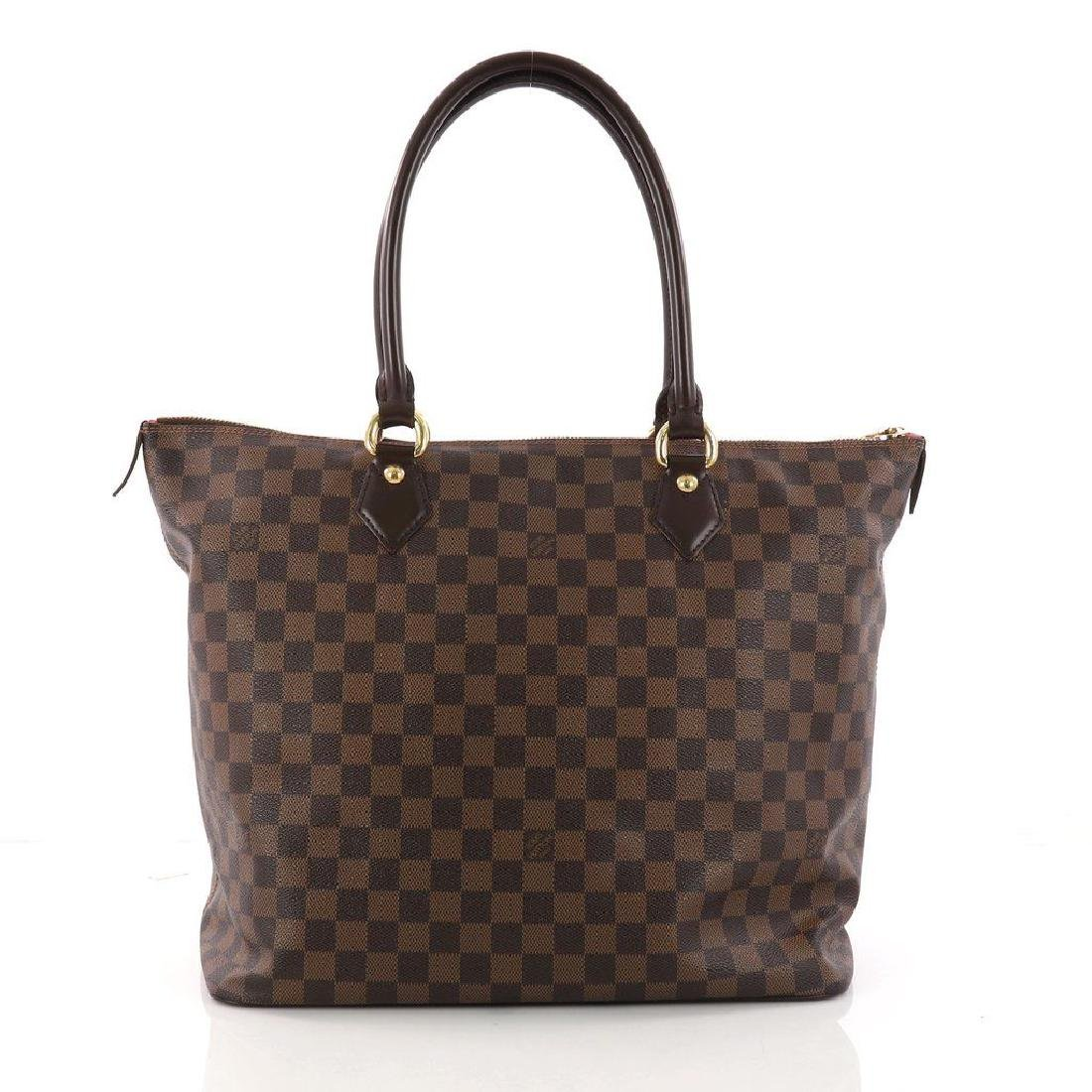 Louis Vuitton Damier Ebene Saleya GM Tote Shoulder Bag - 3