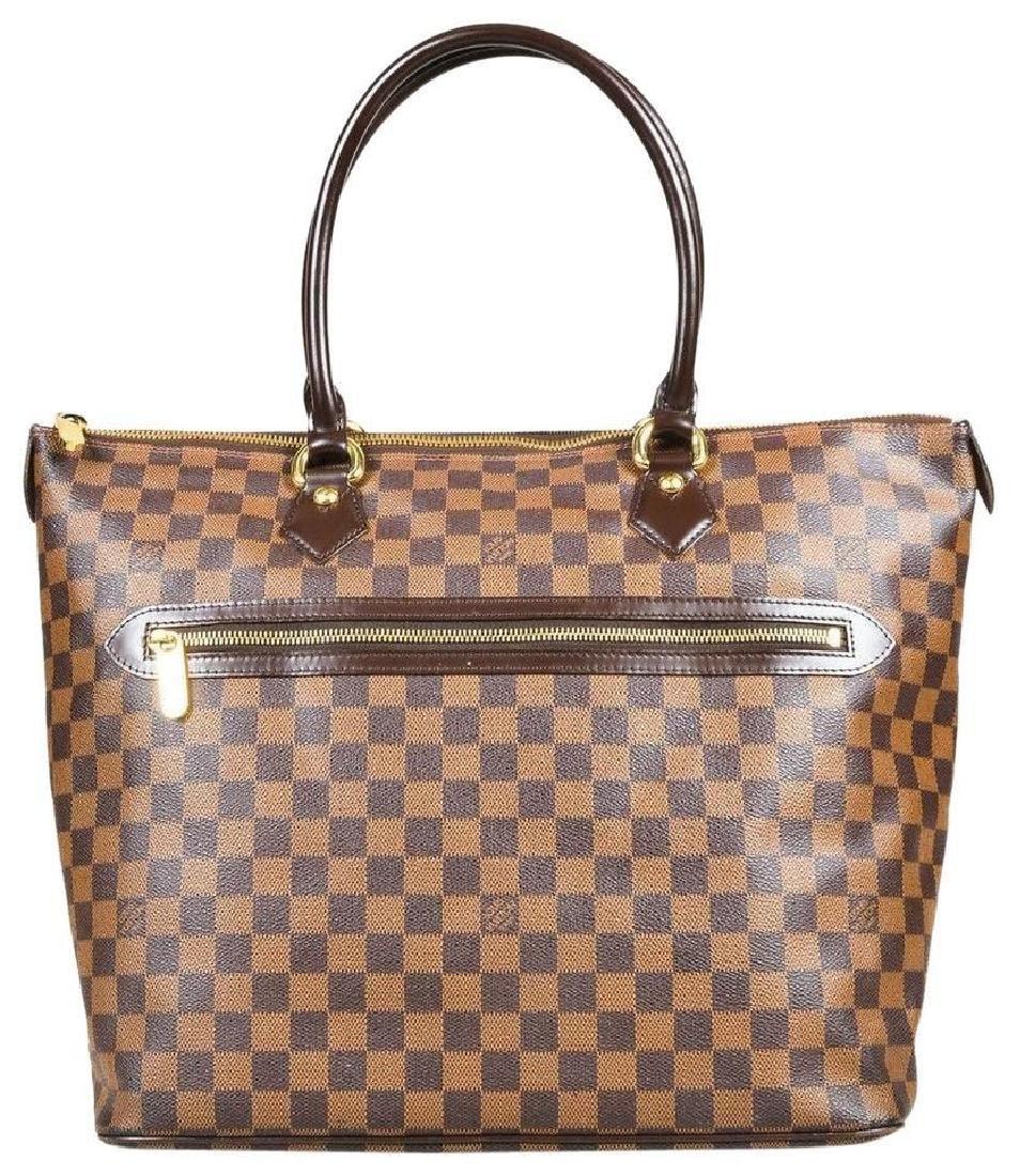 Louis Vuitton Damier Ebene Saleya GM Tote Shoulder Bag - 9