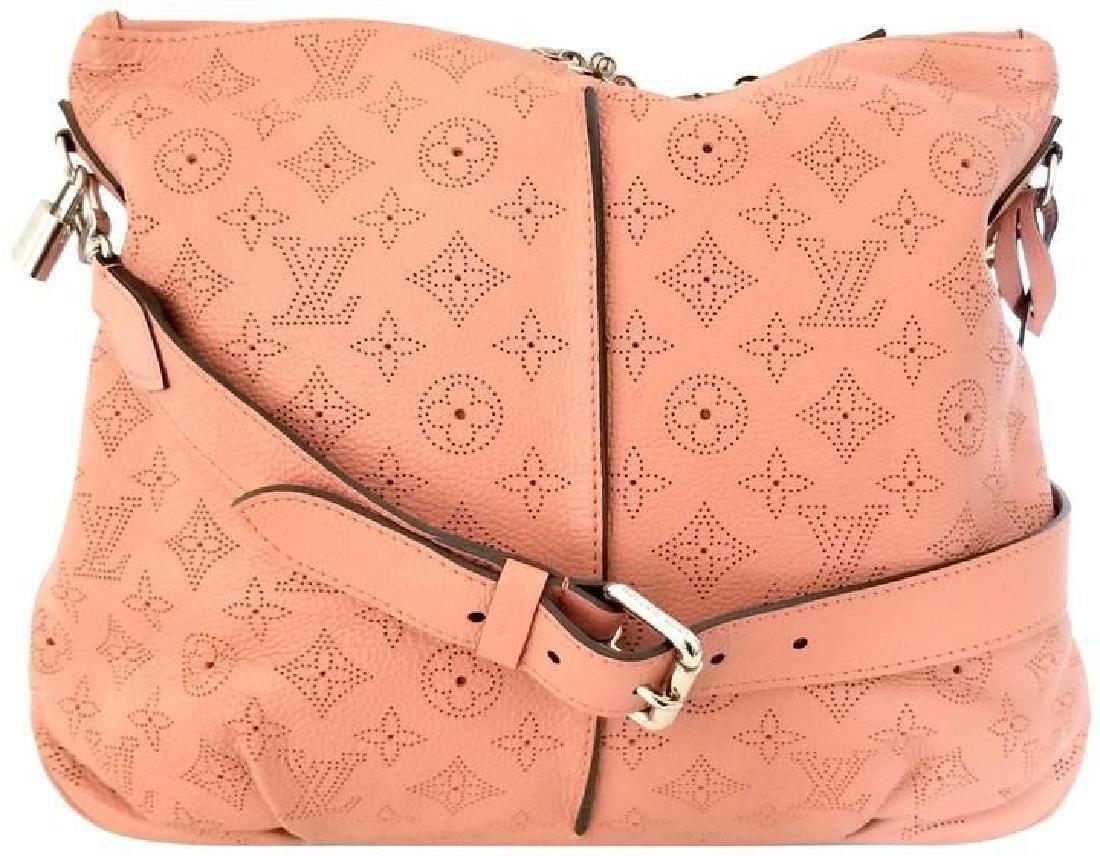 Louis Vuitton Selene Mahina Handbag Pm Pink Salmon
