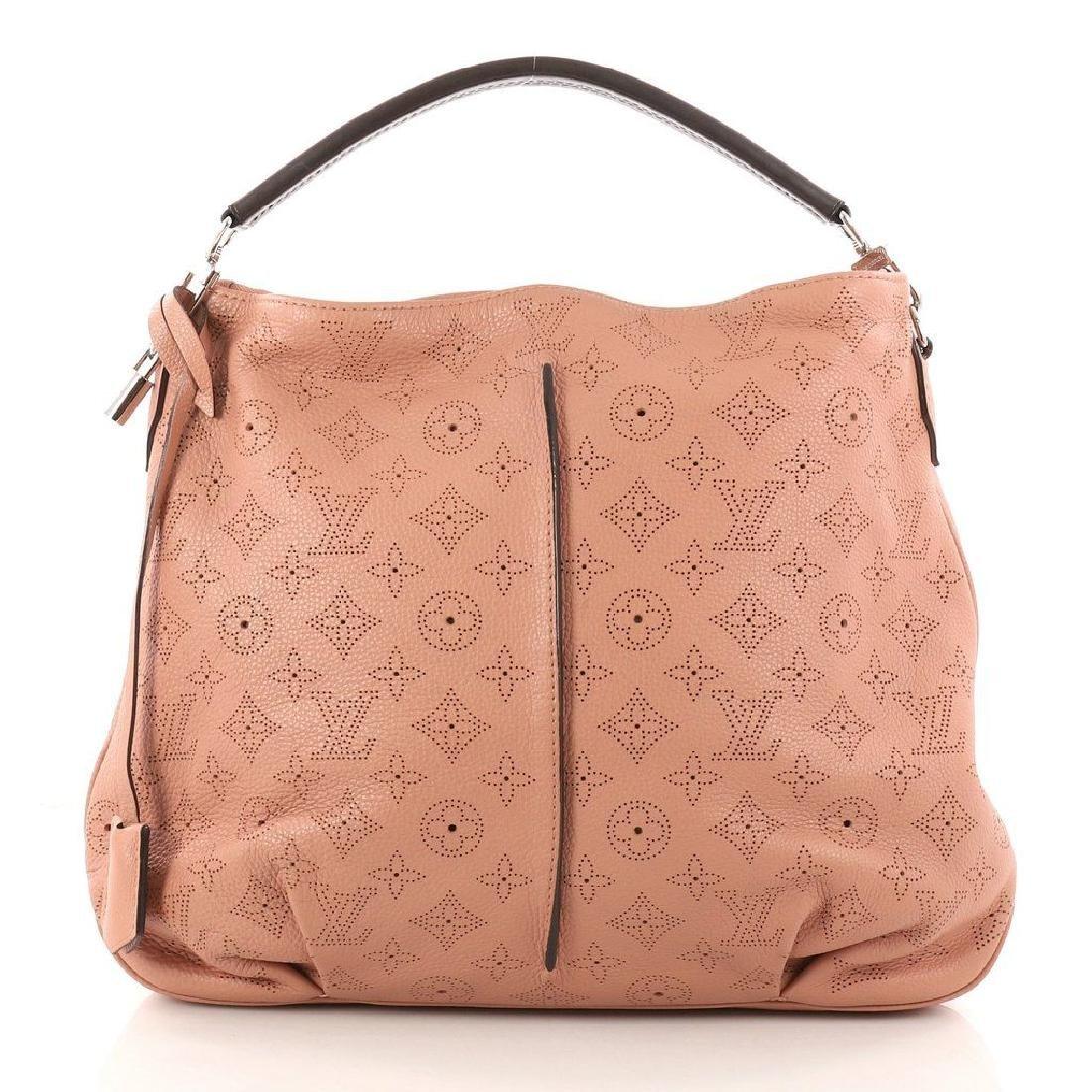Louis Vuitton Selene Mahina Handbag Pm Pink Salmon - 3