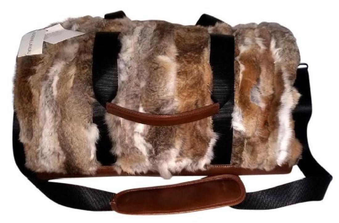 Adrienne Landau Rare Fur Duffle Bag with Cross Body