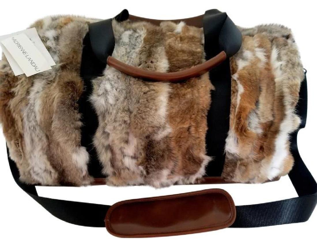 Adrienne Landau Rare Fur Duffle Bag with Cross Body - 2
