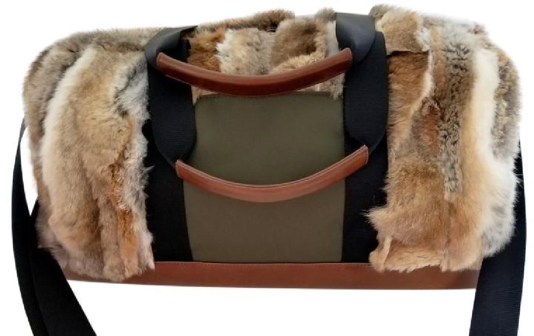 Adrienne Landau Rare Fur Duffle Bag with Cross Body - 3