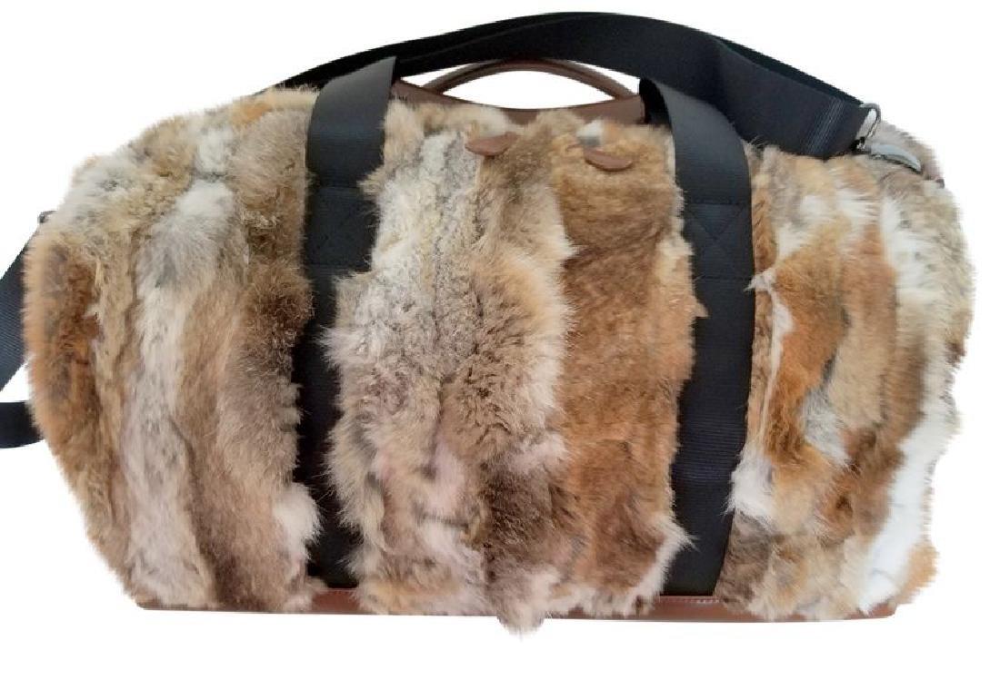 Adrienne Landau Rare Fur Duffle Bag with Cross Body - 4