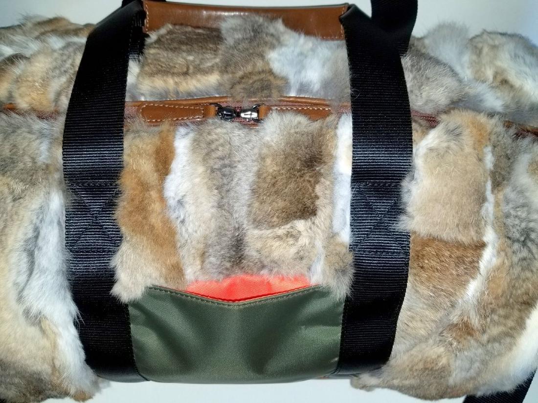 Adrienne Landau Rare Fur Duffle Bag with Cross Body - 5