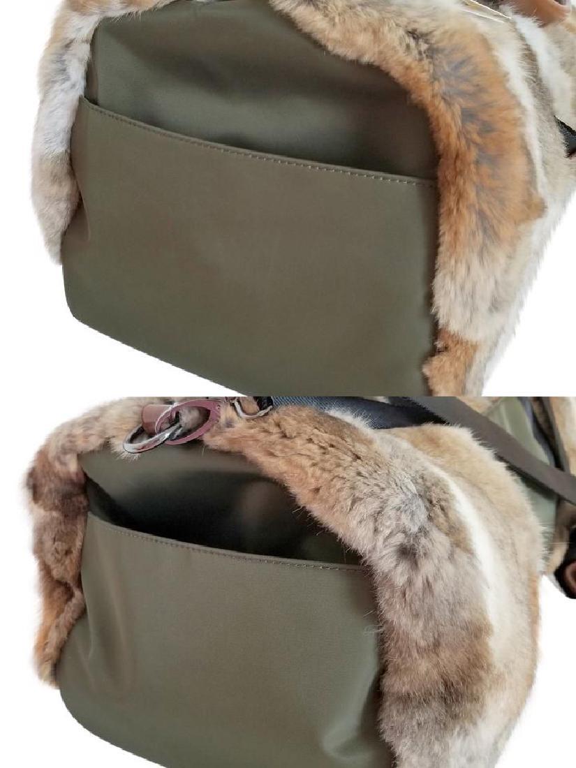 Adrienne Landau Rare Fur Duffle Bag with Cross Body - 6