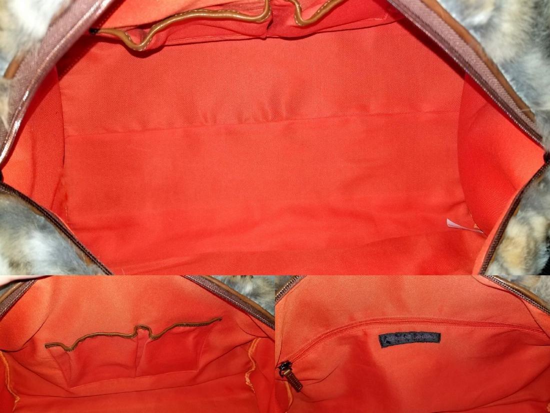 Adrienne Landau Rare Fur Duffle Bag with Cross Body - 7