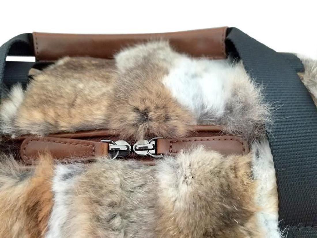 Adrienne Landau Rare Fur Duffle Bag with Cross Body - 8