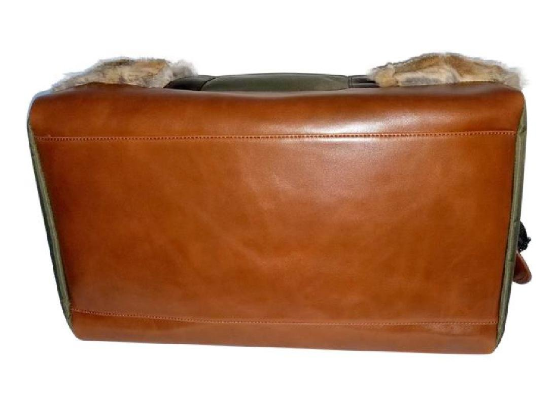 Adrienne Landau Rare Fur Duffle Bag with Cross Body - 9