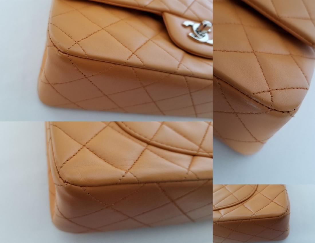 Authentic Vintage Chanel Classic Double Flap Orange - 10