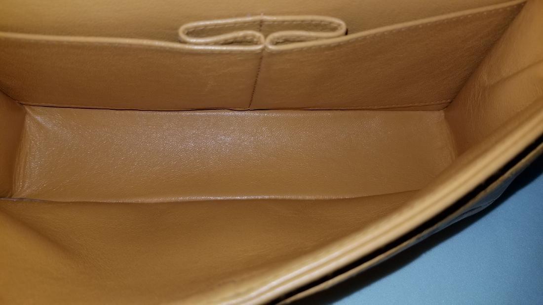 Authentic Vintage Chanel Classic Double Flap Orange - 7