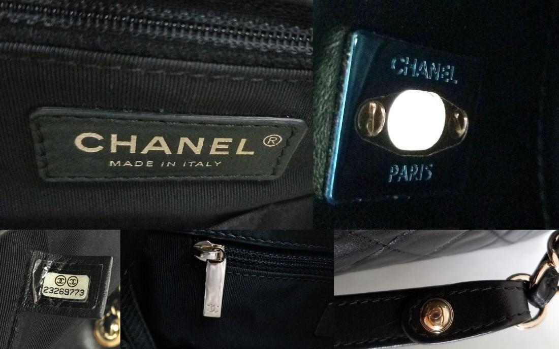 Chanel Lambskin Classic CC Drawstring Black Bucket Bag - 10