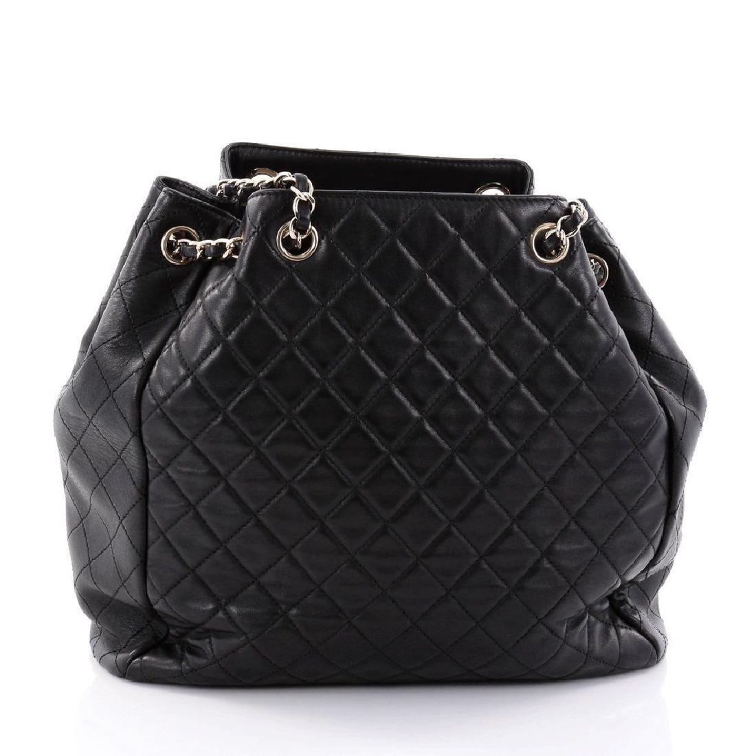 Chanel Lambskin Classic CC Drawstring Black Bucket Bag - 3