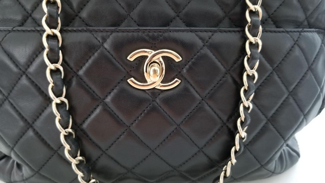 Chanel Lambskin Classic CC Drawstring Black Bucket Bag - 7