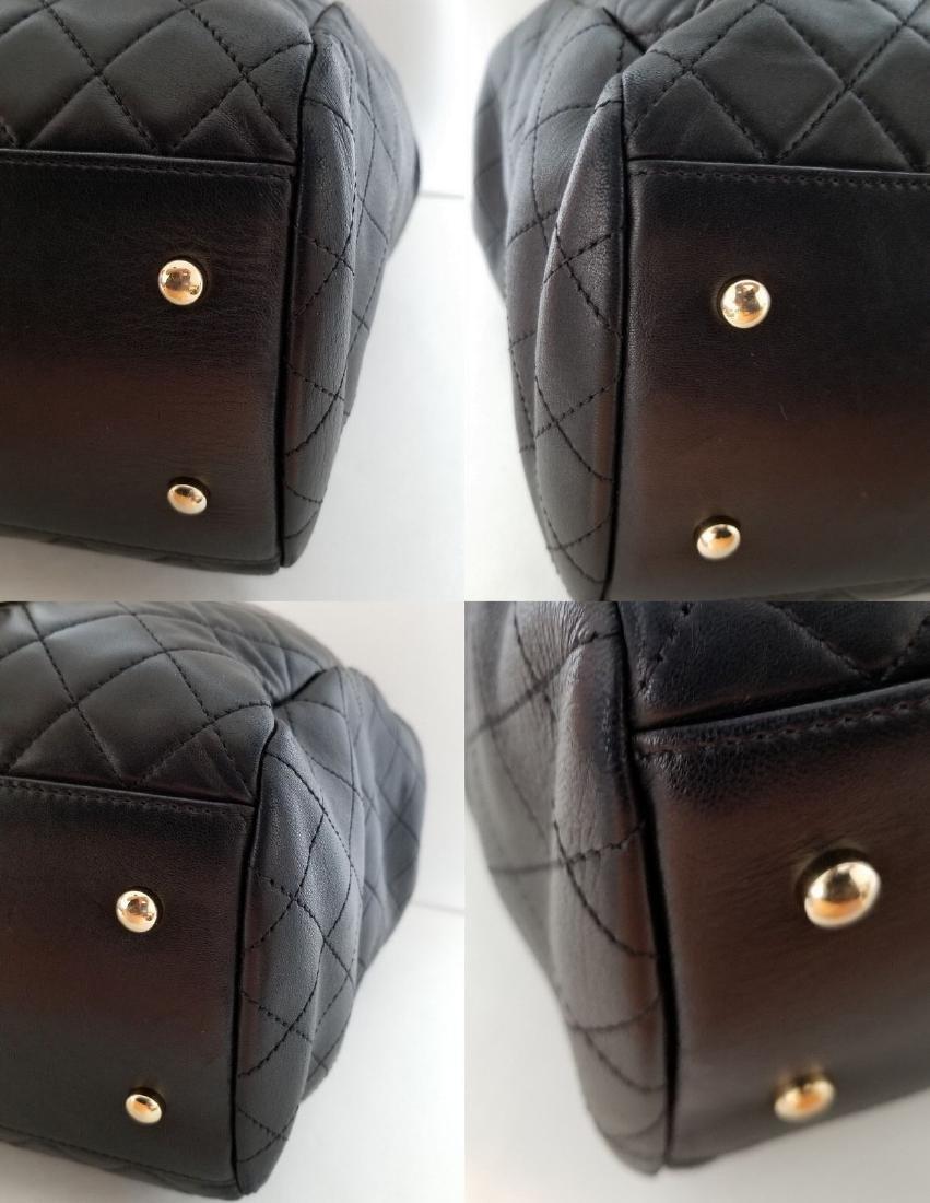 Chanel Lambskin Classic CC Drawstring Black Bucket Bag - 8