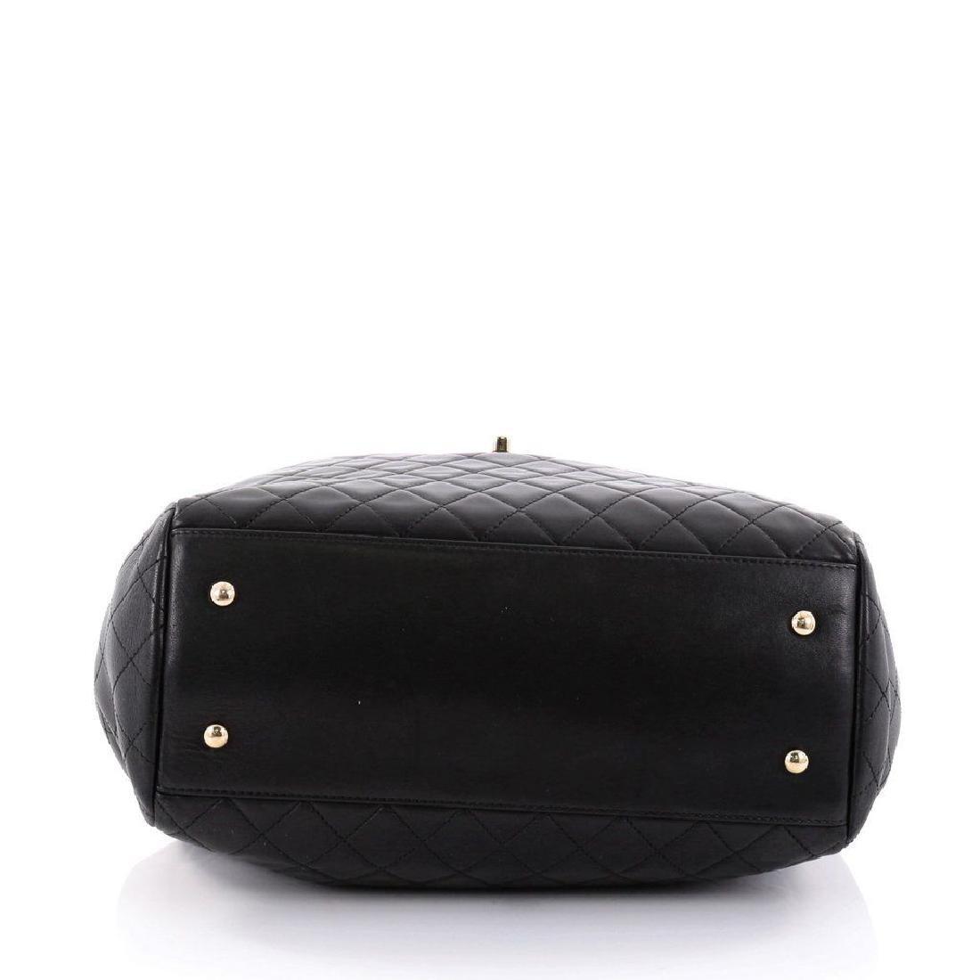 Chanel Lambskin Classic CC Drawstring Black Bucket Bag - 9