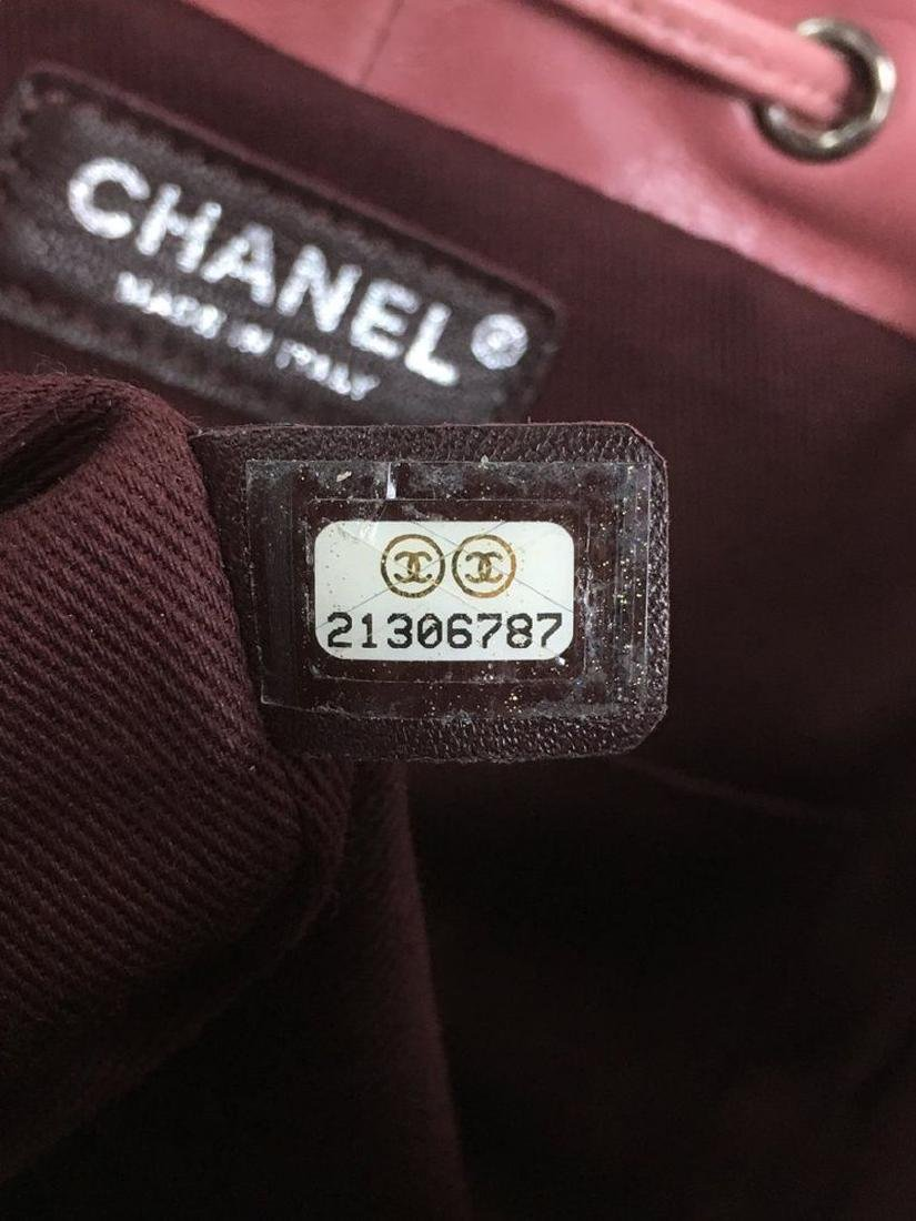 Authentic Chanel Backpack Pink Shearling Quilted - 9