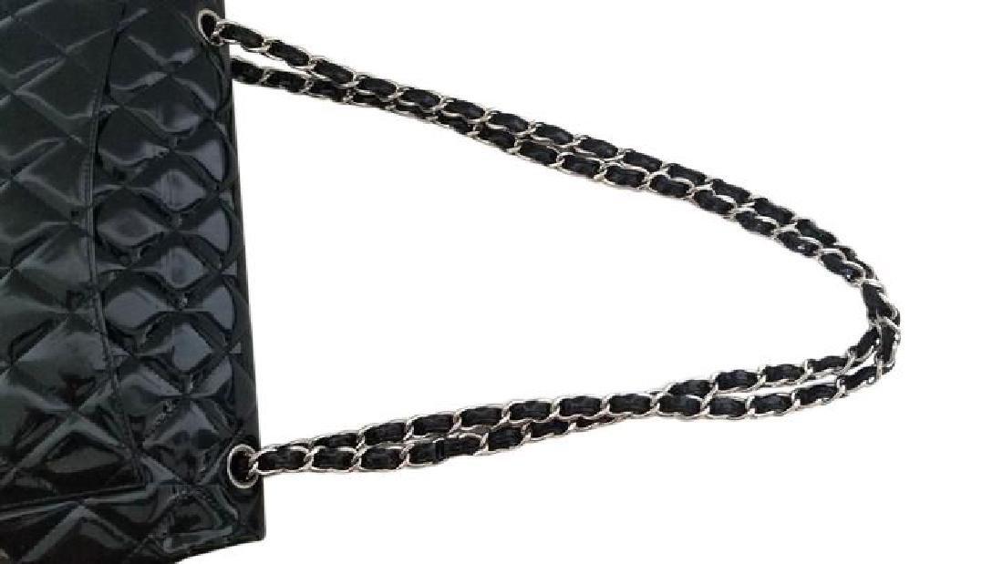 Classic Double Flap Jumbo Maxi Black Patent Leather - 10