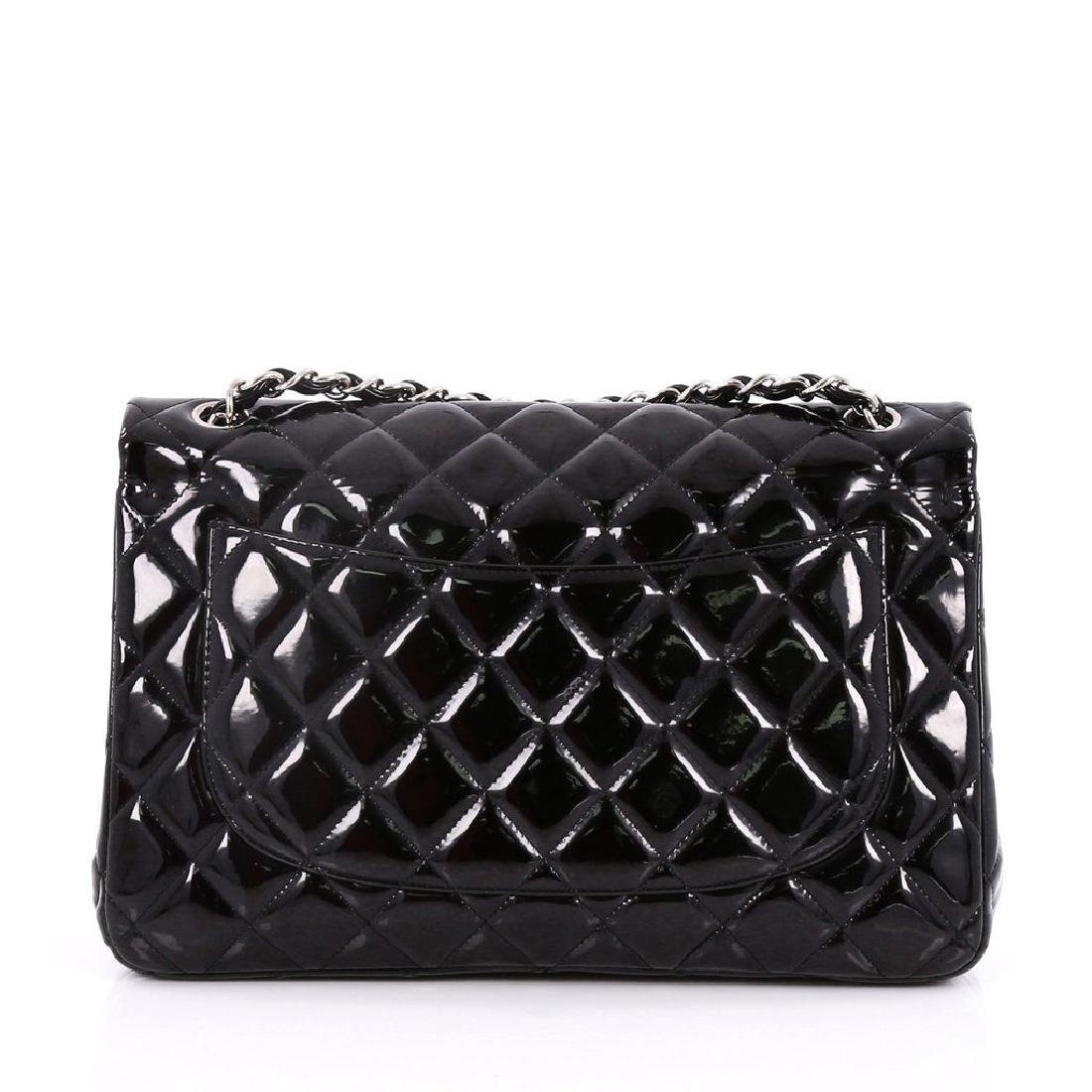 Classic Double Flap Jumbo Maxi Black Patent Leather - 3