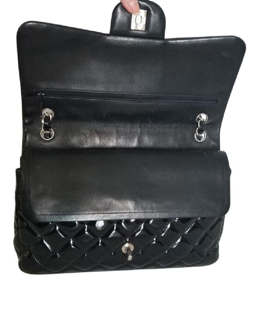 Classic Double Flap Jumbo Maxi Black Patent Leather - 4