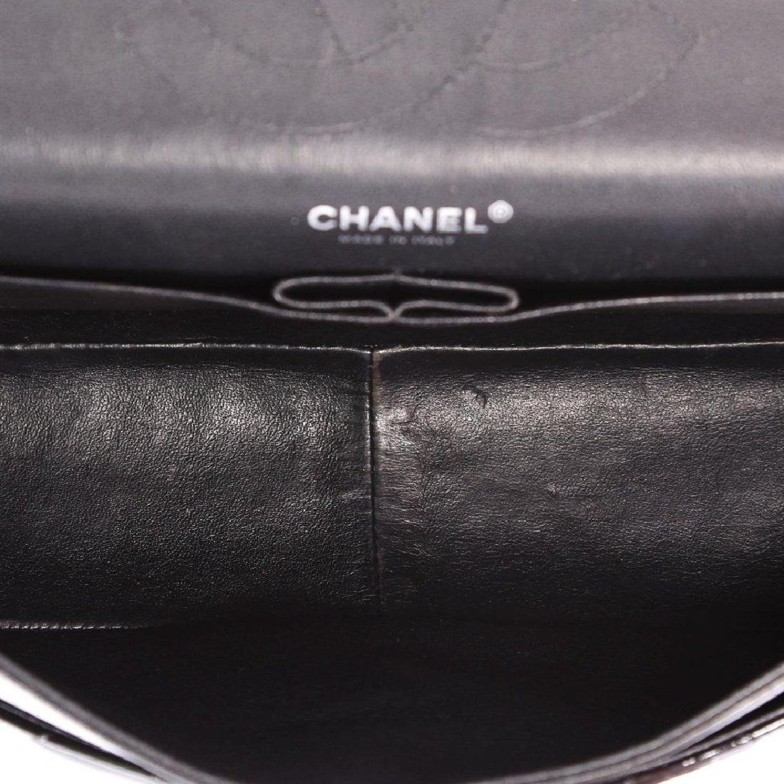 Classic Double Flap Jumbo Maxi Black Patent Leather - 5
