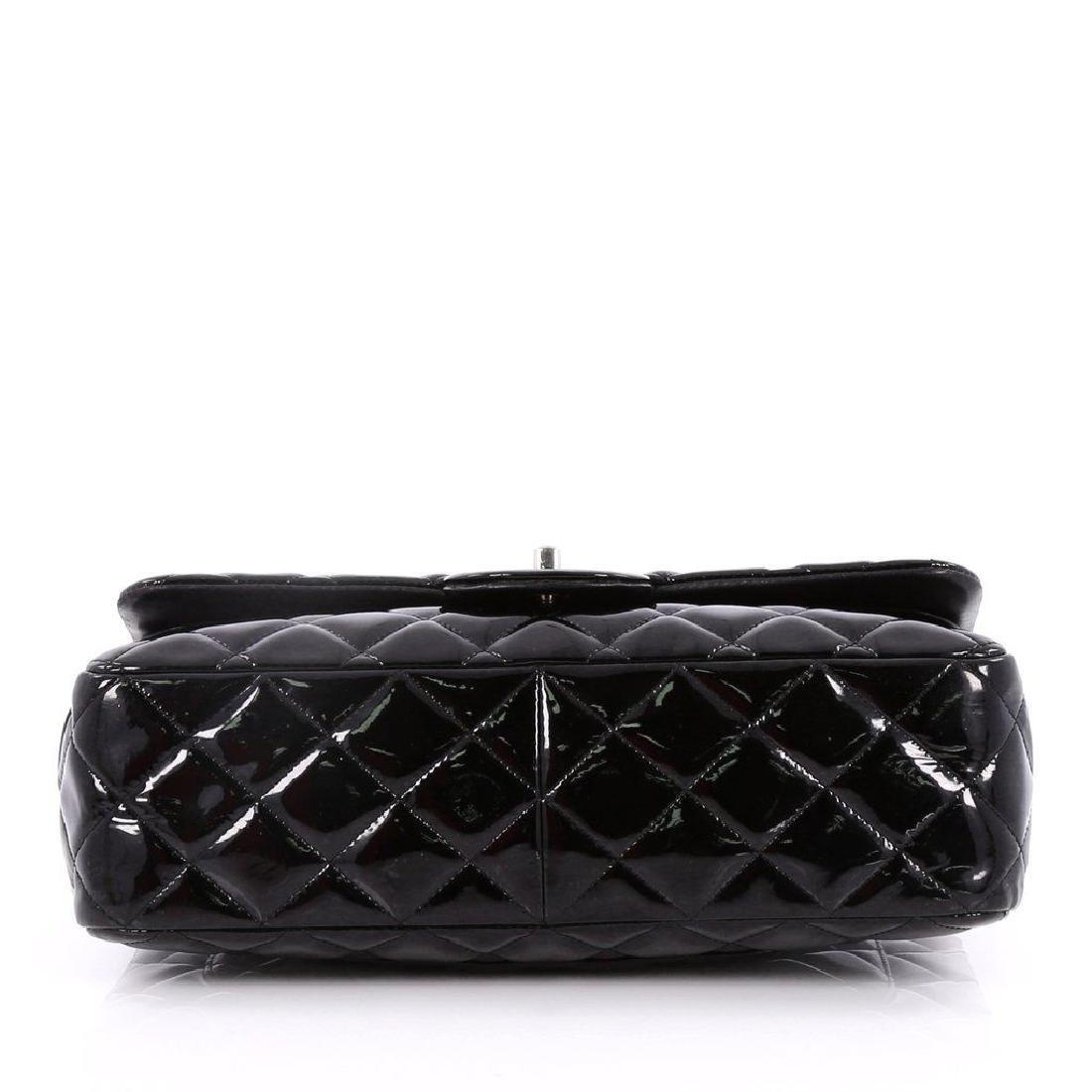 Classic Double Flap Jumbo Maxi Black Patent Leather - 6