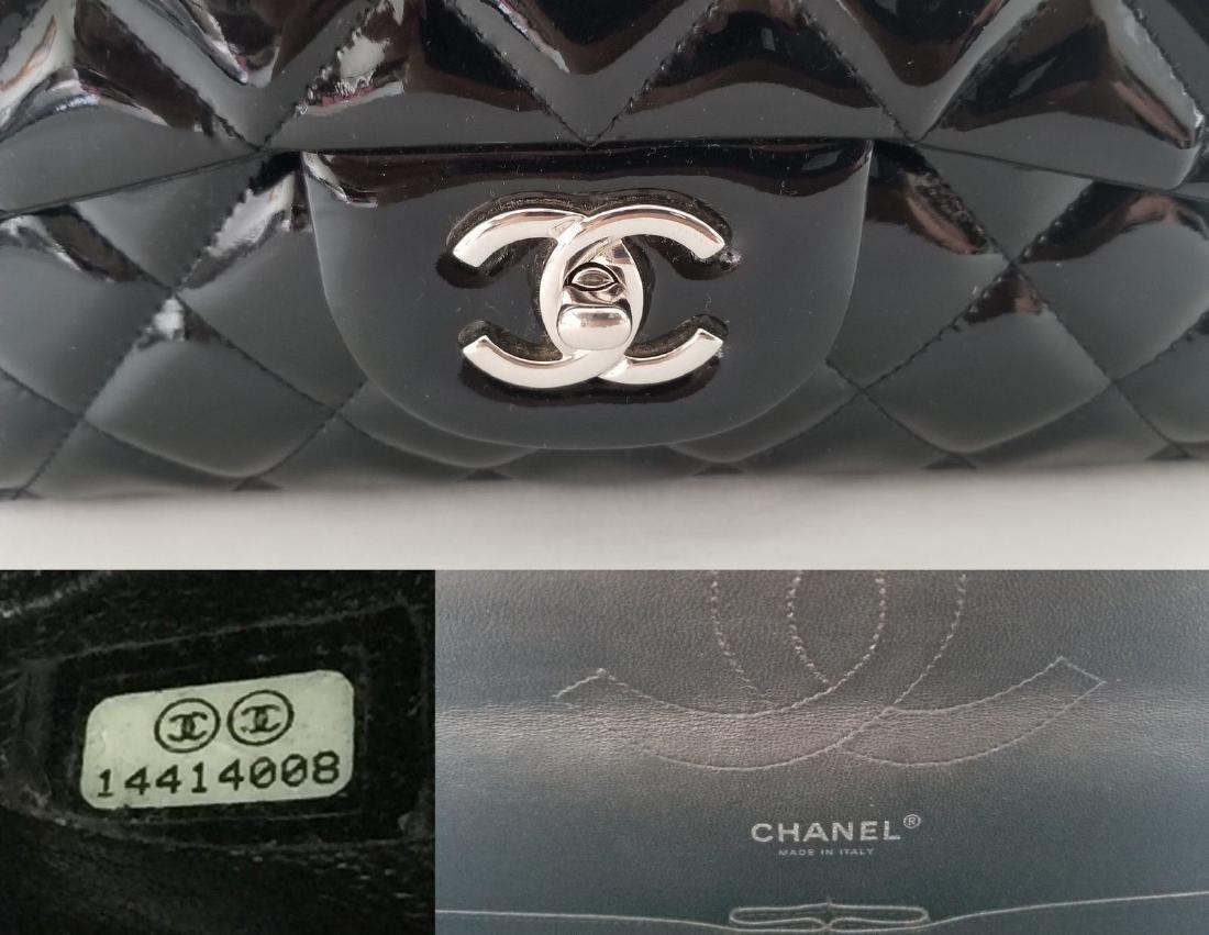 Classic Double Flap Jumbo Maxi Black Patent Leather - 8
