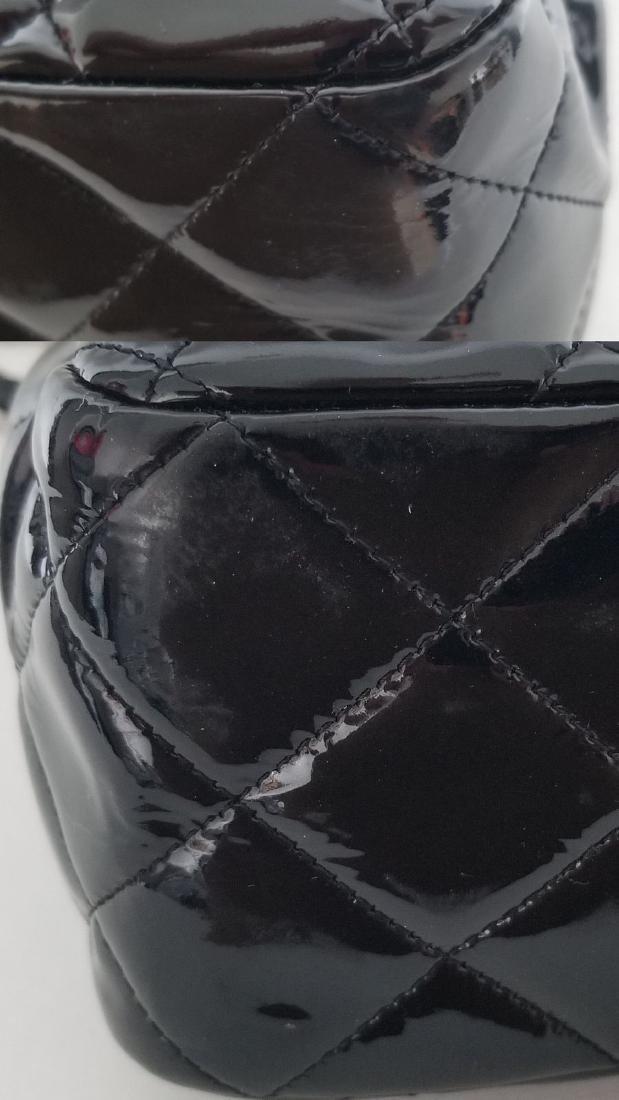 Classic Double Flap Jumbo Maxi Black Patent Leather - 9