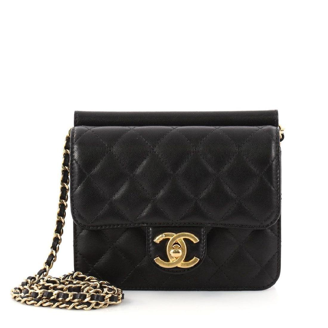 Chanel Mini Quilted Lambskin Crossing Times Cross Body