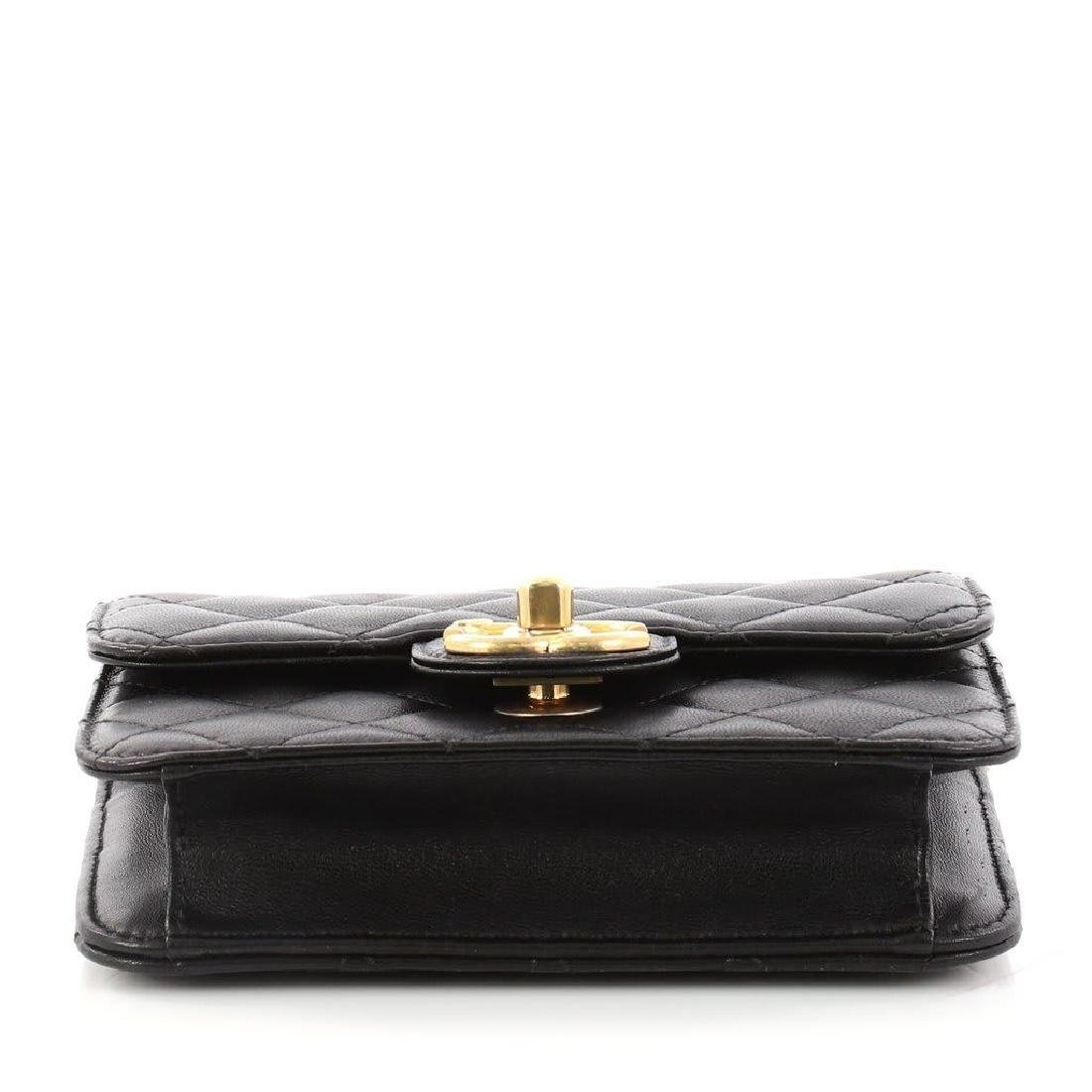 Chanel Mini Quilted Lambskin Crossing Times Cross Body - 6