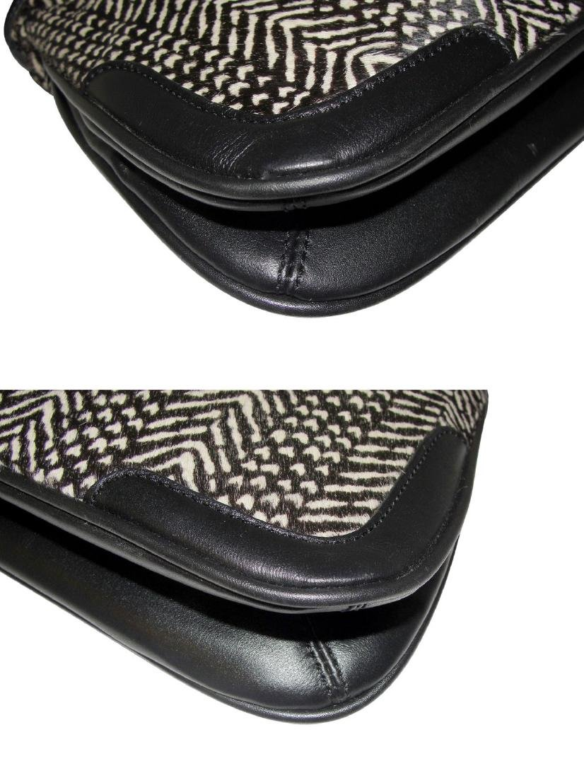 Ann Taylor Classic Fur Black and White Shoulder Bag - 3
