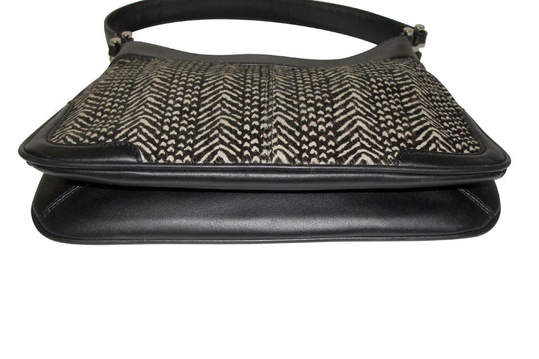 Ann Taylor Classic Fur Black and White Shoulder Bag - 5