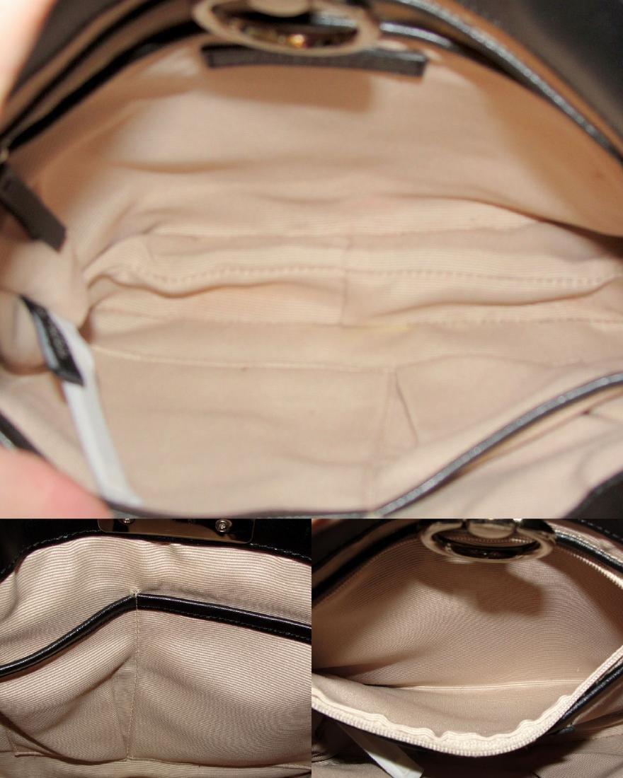 Ann Taylor Classic Fur Black and White Shoulder Bag - 6