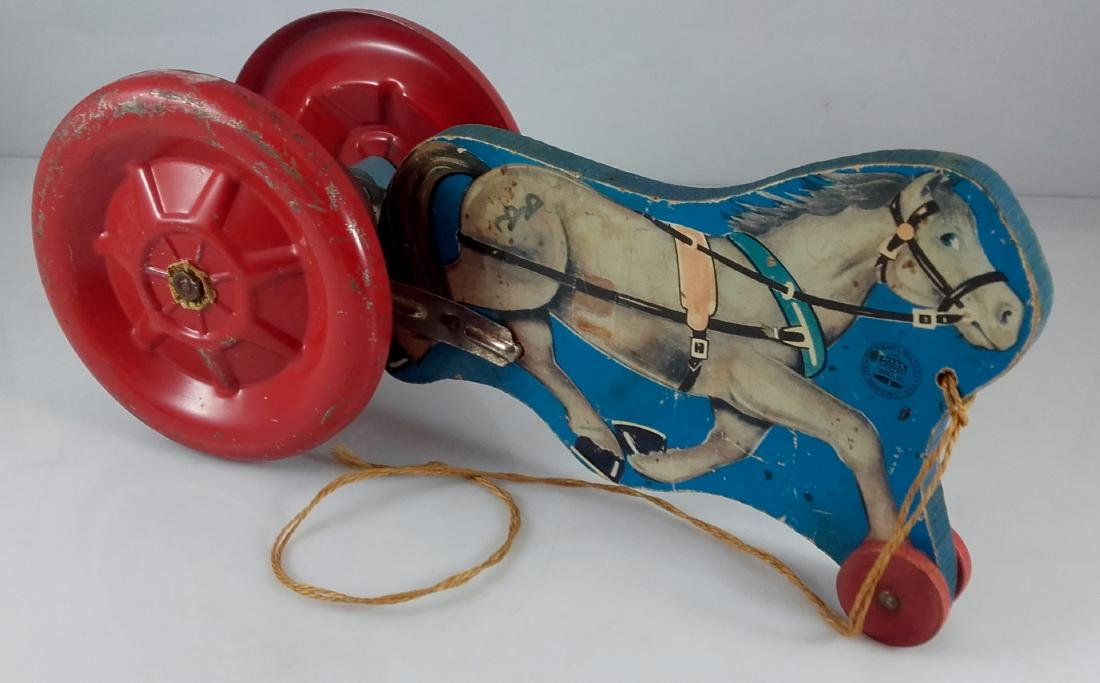 N.N. Hill Brass Co. Riding Horse Pull Toy