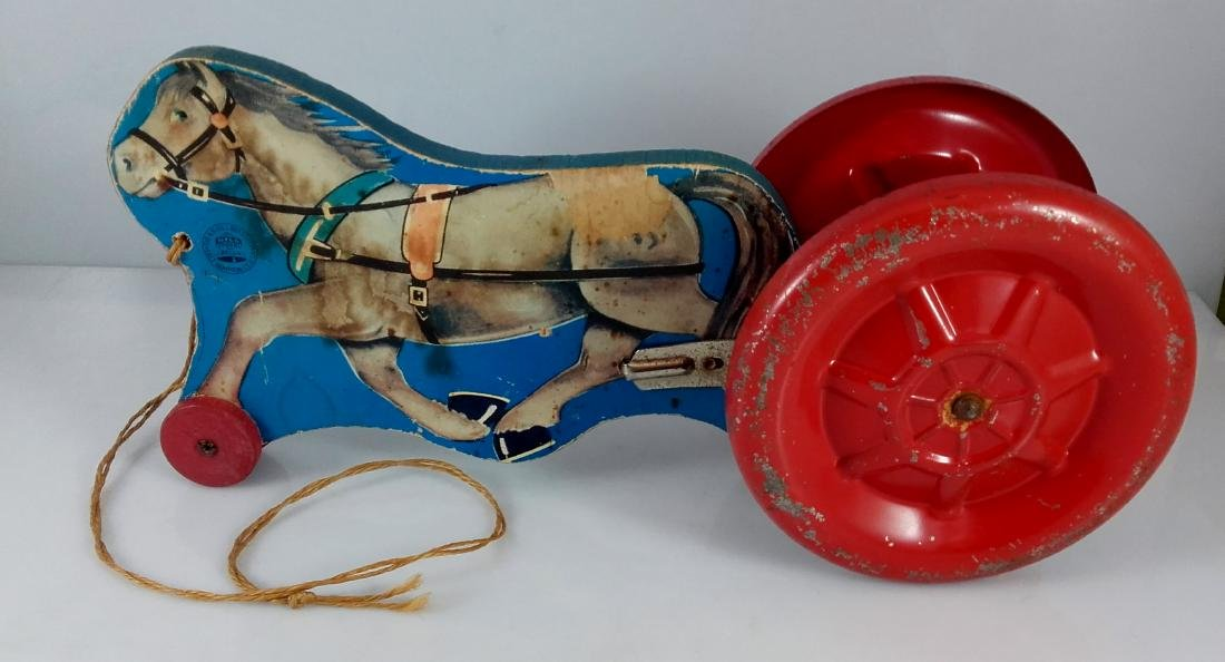 N.N. Hill Brass Co. Riding Horse Pull Toy - 2
