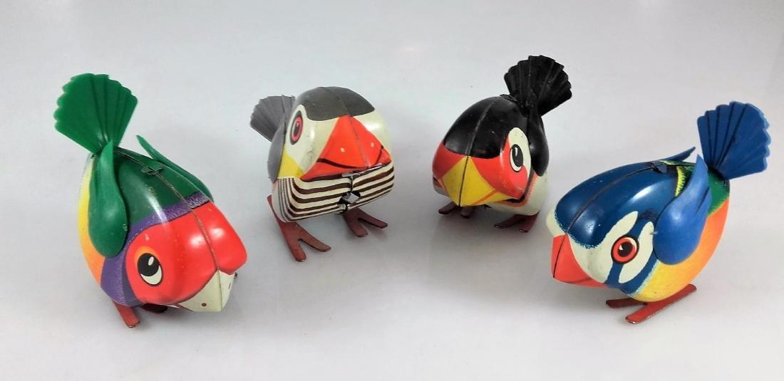 Lehmann 941, 942, 943, 944 – Four pecking birds