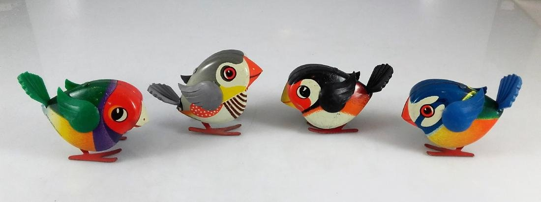 Lehmann 941, 942, 943, 944 – Four pecking birds - 2