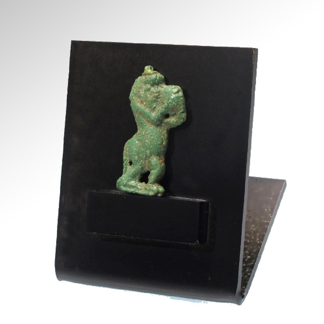 Egyptian Amarna Pendant Plaque with Bes, 18th Dynasty, - 4
