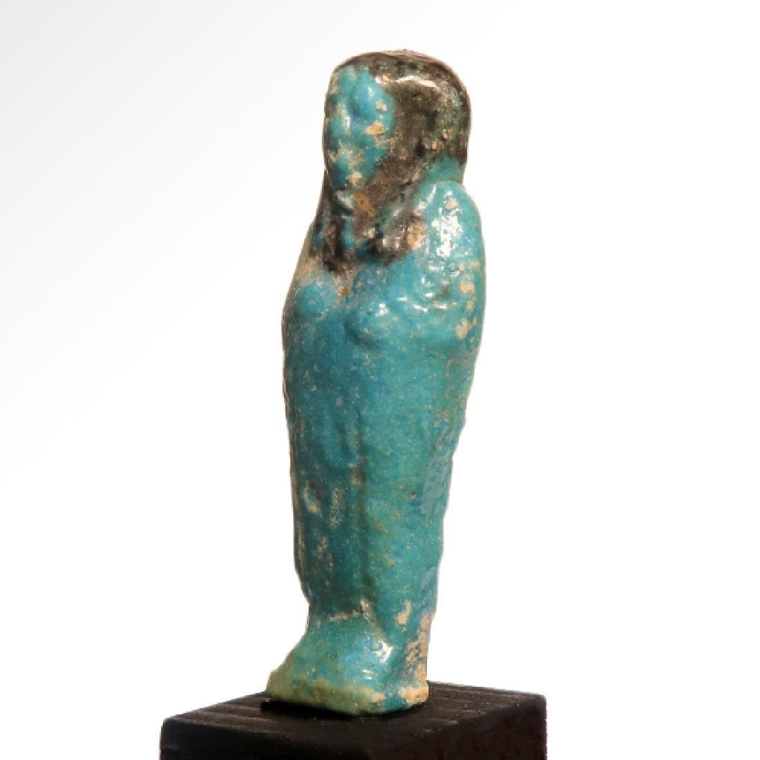 Egyptian Faience Bichrome Shabti, Early 26th Dynasty, - 2