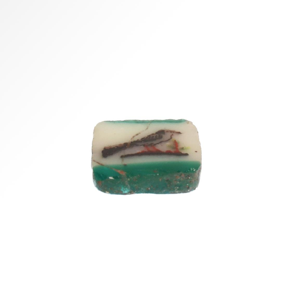 Egyptian Mosaic Glass Plaque Inlay with Swallow Bird - 3