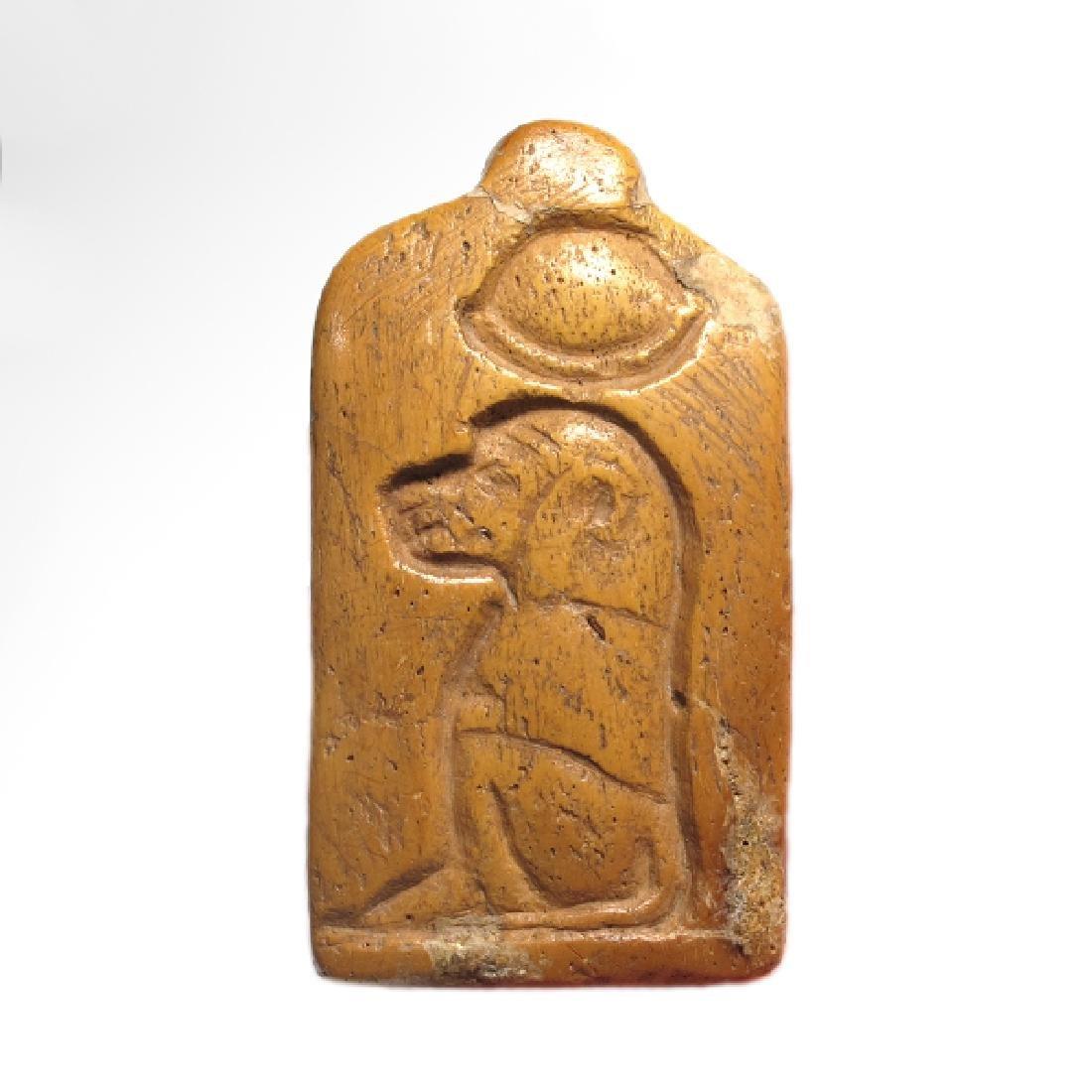Egyptian Wood THOTH Baboon Pendant, c. 600 B.C. - 2